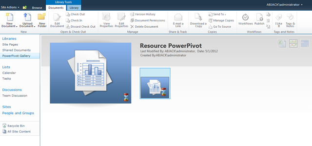 PowerPivot uploaded into SharePoint