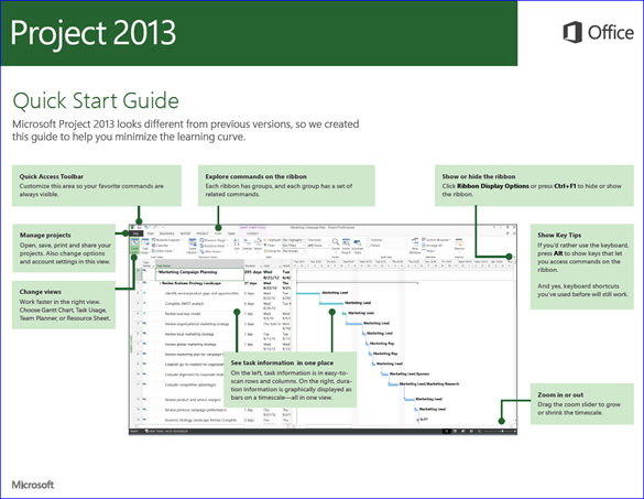 Project 2013 - Office 2013 Quick Start Guide